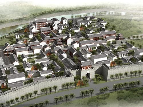 金沙古城鸟瞰图