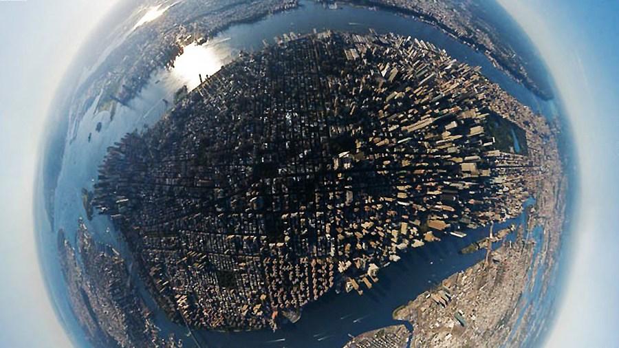 360度航拍 全球城市3d效果全景