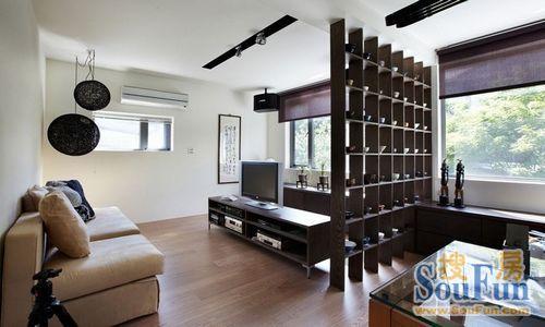 客厅隔断效果图不一定是隔断,一些小型的家具也屏风也能充当