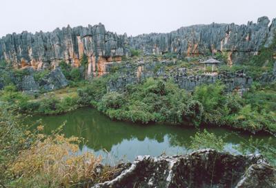云南石林风景区 大自然鬼斧神工的地貌精华