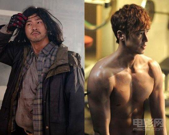 姜志焕/姜志焕的身材在《车警官》中的两极对比...