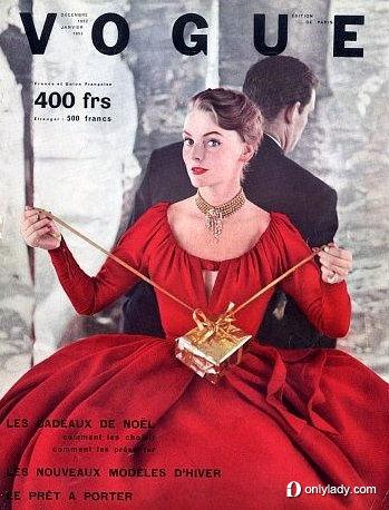 早期欧美时尚杂志 圣诞节封面大盘点