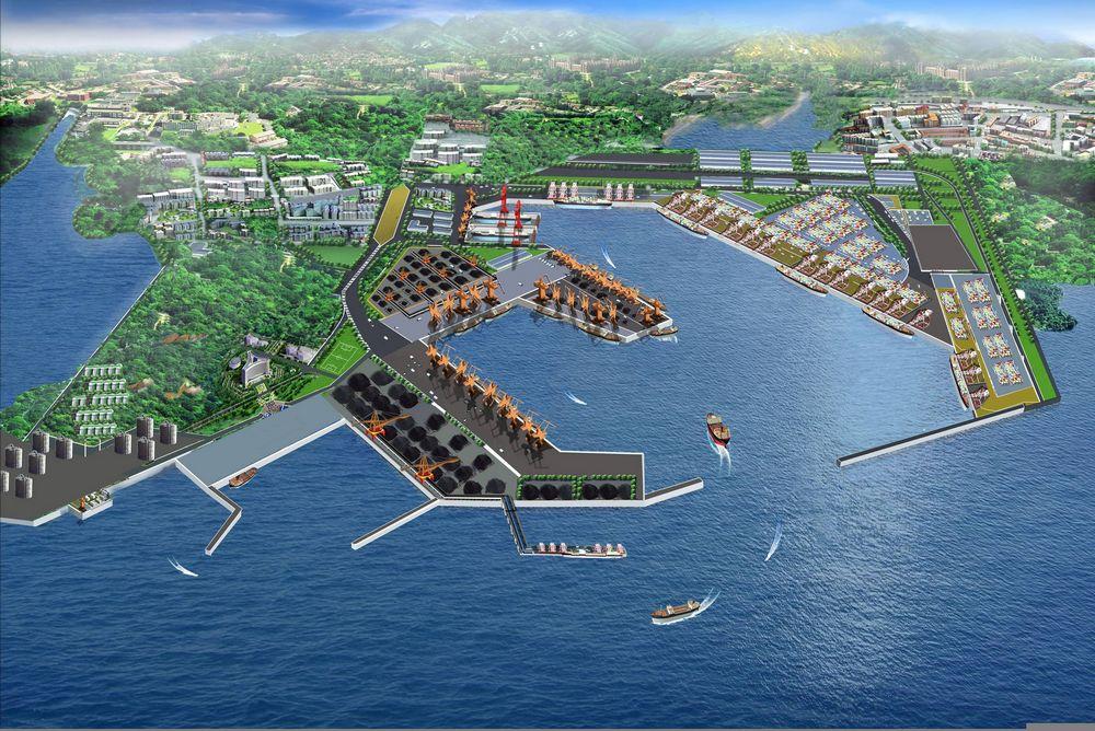 以前湾港区为主体的青岛港,2012年货物吞吐量和集装箱吞吐量分别达到4.02亿吨和1450万标箱;正在建设的董家口港规划泊位112个、设计吞吐能力3.7亿吨,将再造一个青岛港。优化两港功能布局,前湾港以国际集装箱中转为主业,董家口港以国家能源资源储备、大宗货物交易为特色,形成两港联动、梯次升级之势。
