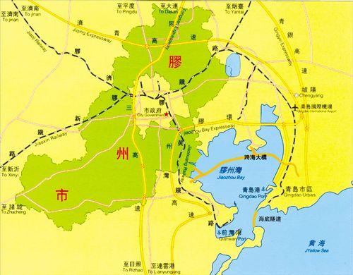 胶州市城区地图-胶州市概况