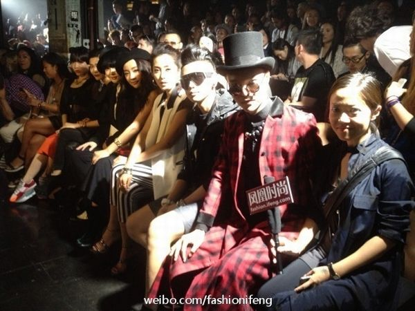 中国/adidas Y/3秀场上的中国明星观秀团