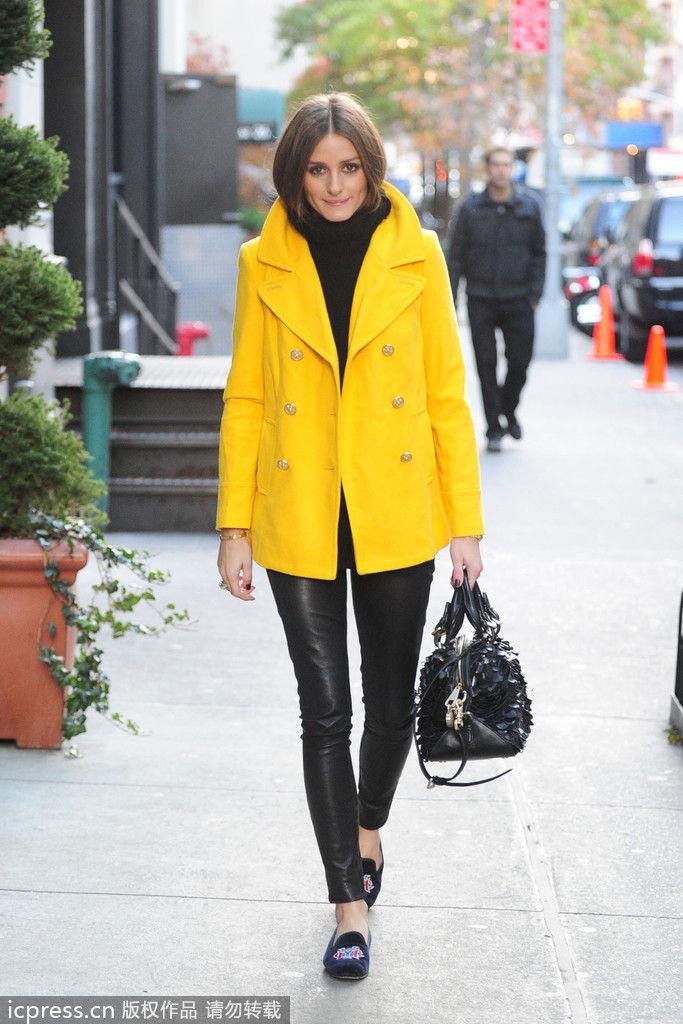 时尚元素黑皮裤  秋冬搭配保暖扮酷秀长腿