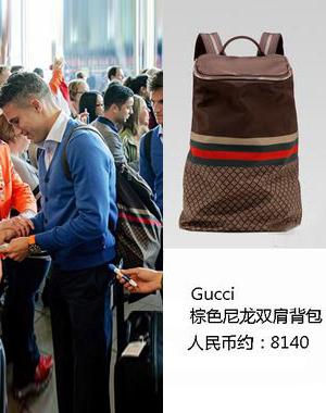 范佩西in Gucci双肩包