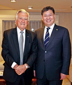 张玉良董事长与澳大利亚总理霍克