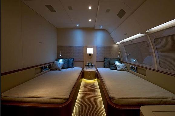 奢华的私人飞机内部设计
