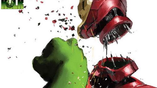 电影 钢铁侠/漫画中,钢铁侠和绿巨人经常大打出手...