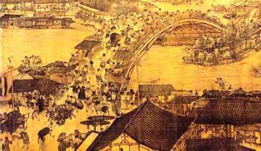 (清明上河图上的宋代繁华街市,图片来源:资料图)-宋代彩票怎么
