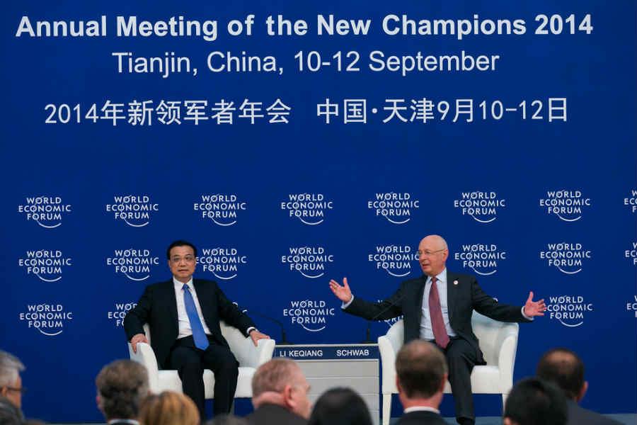 北京时间9月10日到12日,2014年夏季达沃斯经济论坛在天津举行.