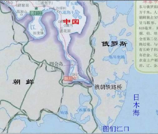 图们江出海口地图-中俄将共建大型不冻港 距离中国边境18公里