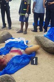 """一男一女游客裸死在海滩""""<"""