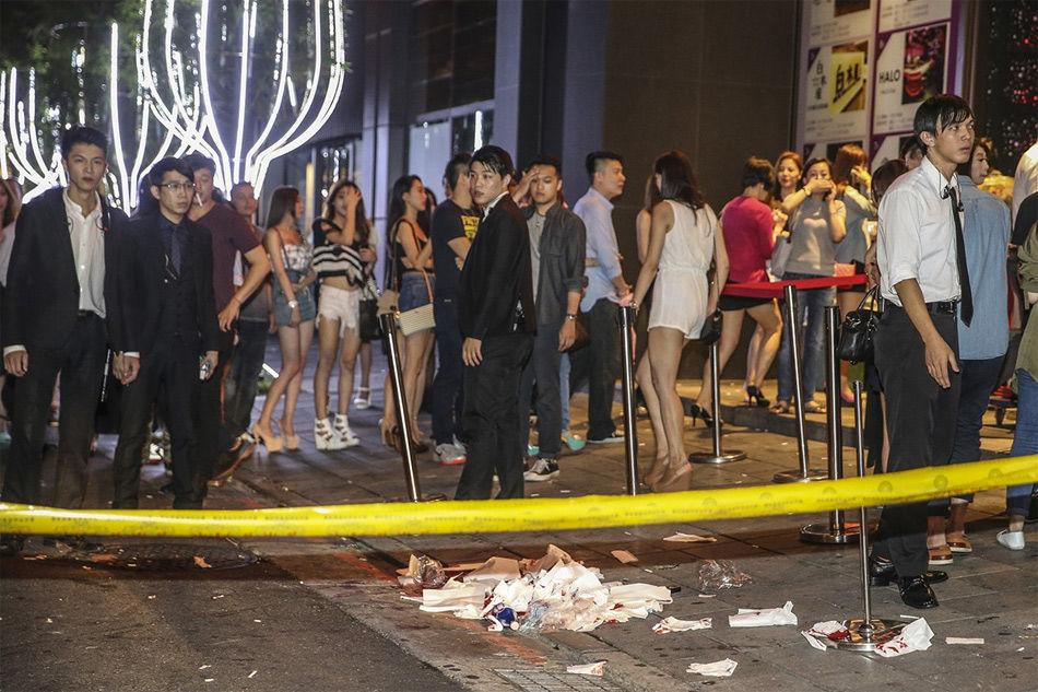 竹联帮_台湾刑警夜店前遭50多人围殴致死画面