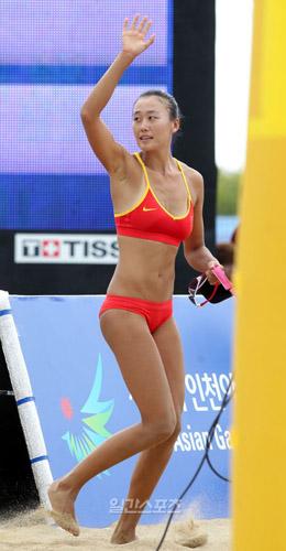 韩媒拍中国沙排美女尴尬事 称不洁腋下令人惊|亚运会|沙滩排球