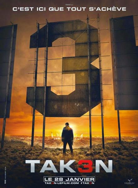 《飓风3》首曝海报 连姆:或是最后一部(图)