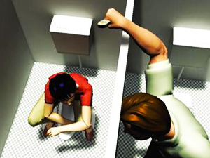 蹲坑男厕所拍偷图片