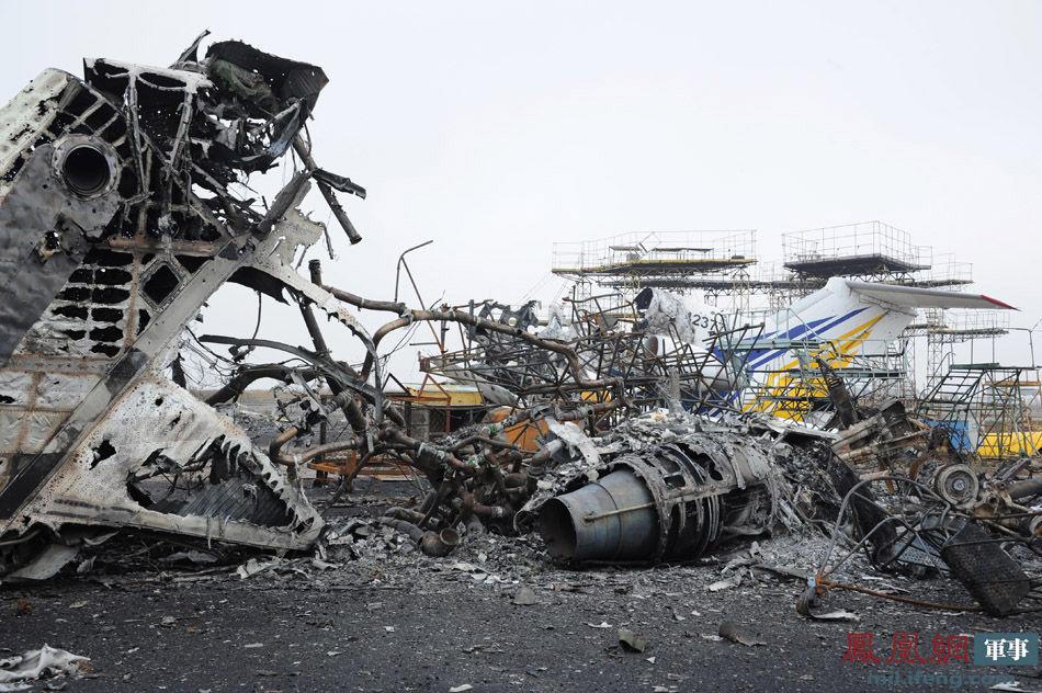 直击顿涅茨克机场绞肉战:跑道之外皆成废墟