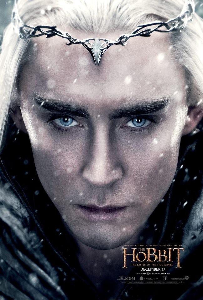 《霍比特人3》发李佩斯海报 精灵王子神情严肃露凶光