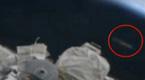 疑UFO偷窥国际空间站 巨大圆盘盯看