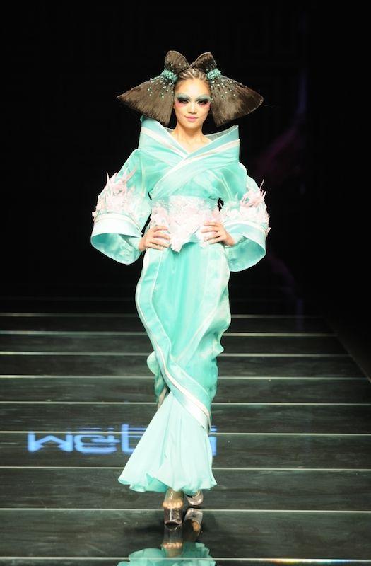 t台模特创意发型图片 见识最个_发型设计