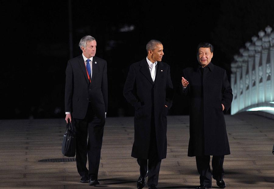 习近平同奥巴马在中南海会晤(1/8) -  东方.旭 - 东方.旭的博客
