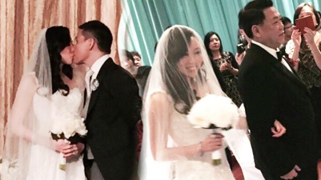 永康香港大婚 新郎新娘现场热吻