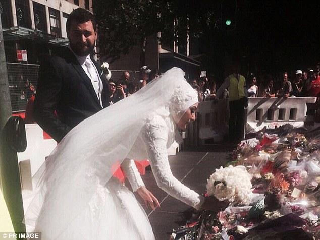 澳大利亚一穆斯林新娘在袭击地献