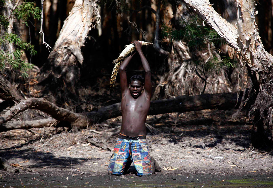 蛮荒之巅 猎杀鳄鱼的部落图片