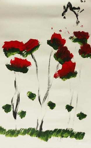 风中的野玫瑰