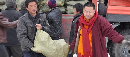 慈爱基金为灾区雪中送炭