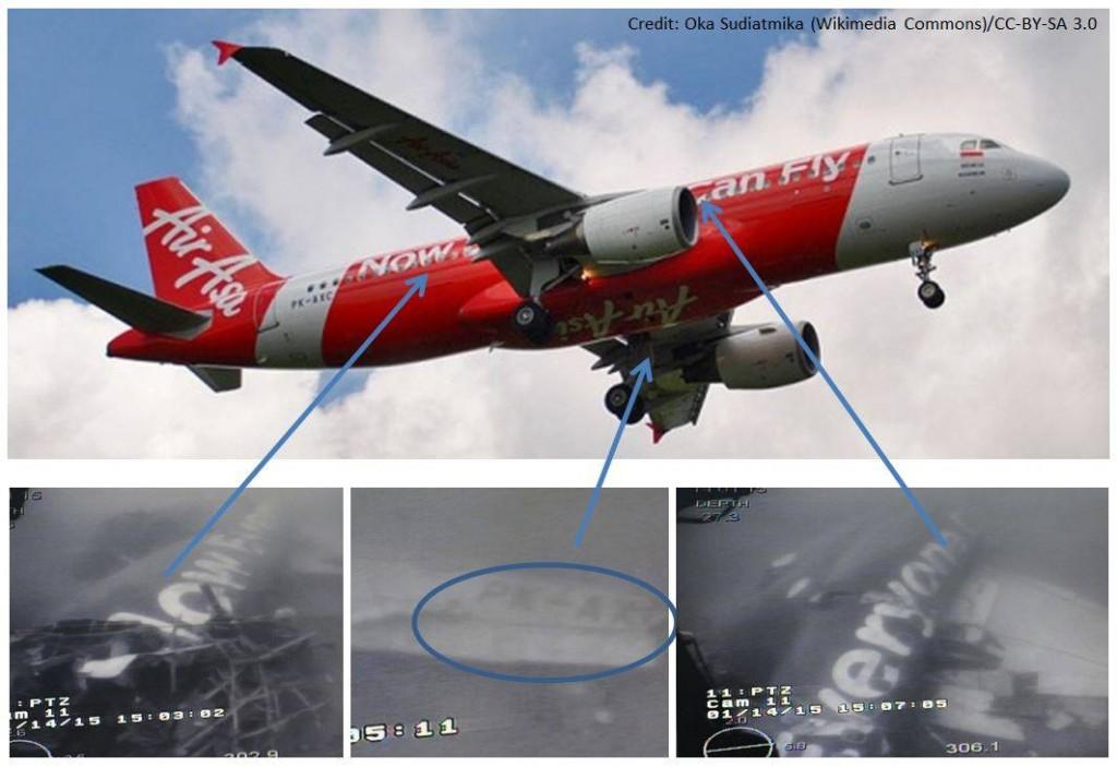 亚航失事机体照片曝光 机身相对完整(图)