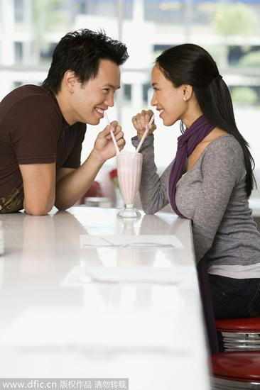 性情:男人看美女时目光会落在哪