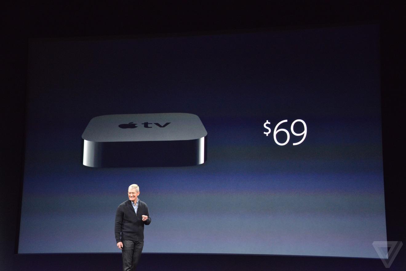 苹果降低Apple TV售价:仅69美元 片源增加