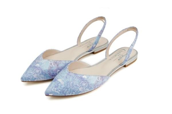 T字带高跟鞋,尖头后带平底鞋,透明Cut-out高跟鞋,透明尖头平底