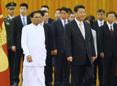 """斯里兰卡总统访华""""负荆请罪"""" 中国高层神情严肃"""