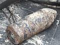 福建泉州海边沙场现炮弹警方将其引爆