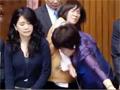 实拍台立委大闹立法院 抗议加入亚投行