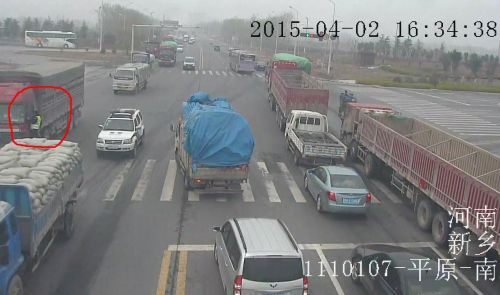 货车拖挂交警十公里