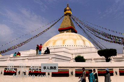 博达纳特大佛塔占地甚广,为亚洲乃至世界最大的复钵状半圆形佛塔建筑