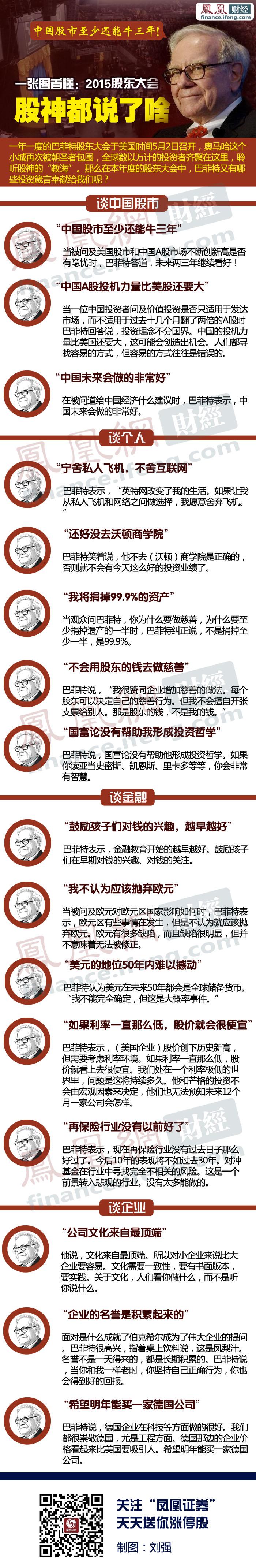 巴菲特:中国股市至少还能牛三年 - 潮河边人 - 潮河边人博客