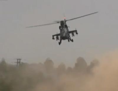 武直-19空中单发停车 飞行员吓出一身汗