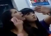 实拍:北京地铁内彪悍女孩骂外国女子 爆连串粗口