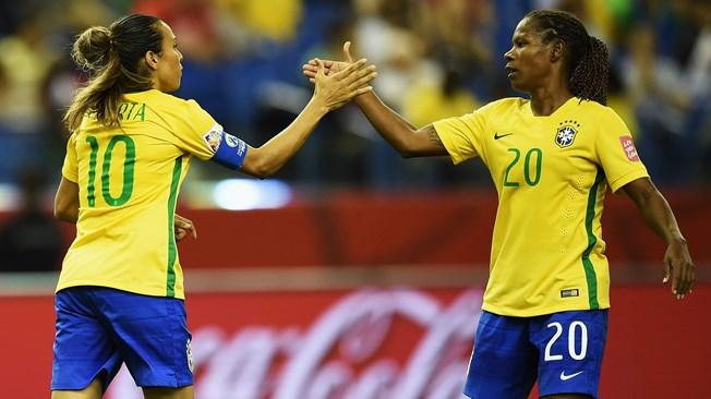 巴西女足2-0韩国 玛塔成世界杯世界杯历史射手