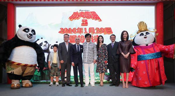 《功夫熊猫3》定档明年1月29日 成龙杨幂担纲中文配音