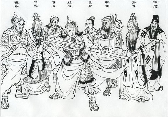 三国演义情节图片手绘