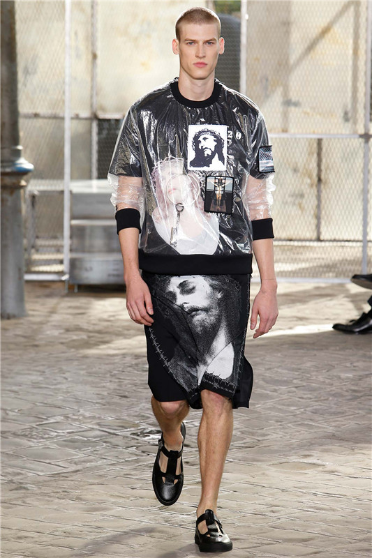 Givenchy 2016春夏男装2015秋冬高定宗教元素穿上身