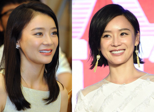 袁姗姗长短发对比 对比之前长发的袁姗姗,短发似乎显得更加靓丽与图片