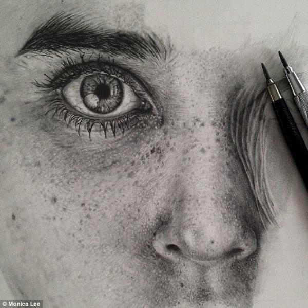 欺骗你眼睛的铅笔画